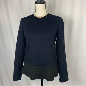 Tory Burch quilted Navy & black top
